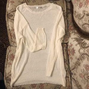 NEW White Cream Mini Popcorn Pullover Sweater Top